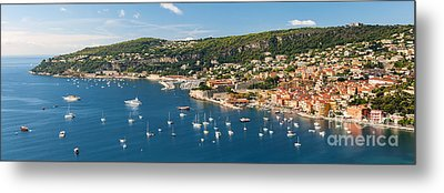 Villefranche-sur-mer And Cap De Nice On French Riviera Metal Print by Elena Elisseeva