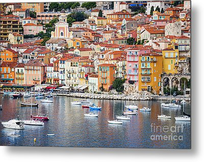 Villefranche-sur-mer View In French Riviera Metal Print