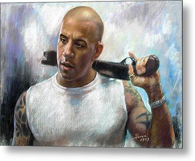 Vin Diesel Metal Print by Ylli Haruni