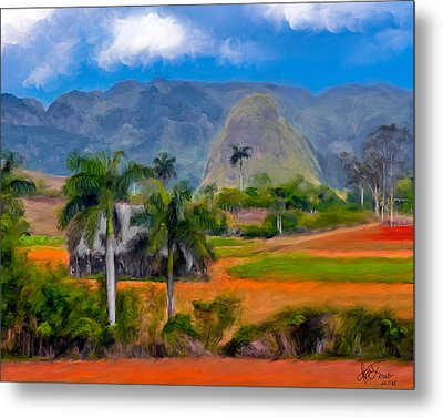 Metal Print featuring the photograph Vinales Valley. Cuba by Juan Carlos Ferro Duque