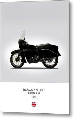 Vincent Black Knight 1955 Metal Print by Mark Rogan