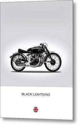 Vincent Black Lightning Metal Print by Mark Rogan