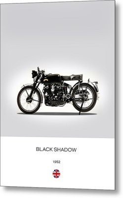 Vincent Black Shadow 1952 Metal Print by Mark Rogan
