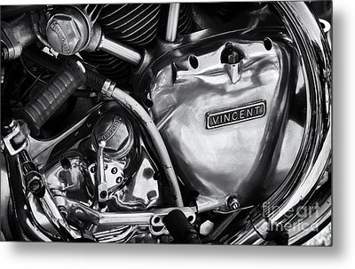 Vincent Engine Detail Metal Print by Tim Gainey