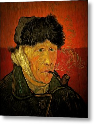 Vincent Van Gogh By Van Gogh Revisited - Da Metal Print