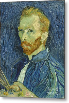 Vincent Van Gogh Self-portrait 1889 Metal Print by Edward Fielding