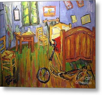 Vincent Van Go's Bedroom Metal Print