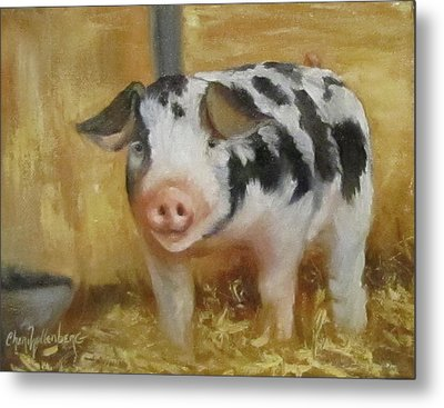 Metal Print featuring the painting Vindicator The Spotted Pig by Cheri Wollenberg