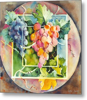 Vineyard Metal Print by Joan  Jones