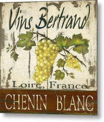 Vineyard Red Wine Sign Metal Print by Grace Pullen