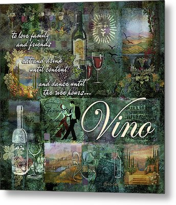 Vino Metal Print by Evie Cook