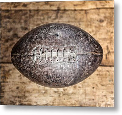 Vintage 1940s Macgregor Mcg Intercollegiate Football  Metal Print by Lisa Russo