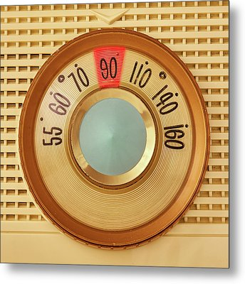 Vintage Am Radio Dial Metal Print by Jim Hughes