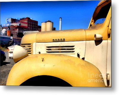 Vintage America . Old Dodge Truck At The Old C And H Sugar Plant . 5d16786 Metal Print by Wingsdomain Art and Photography