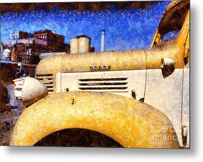 Vintage America . Old Dodge Truck At The Old C And H Sugar Plant . Painterly . 5d16786 Metal Print by Wingsdomain Art and Photography