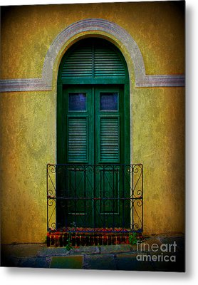 Vintage Arched Door Metal Print by Perry Webster