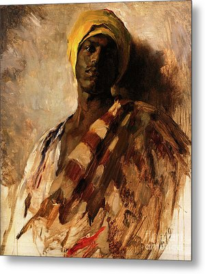 vintage art, Study for Guard of the Harem, 1879 Metal Print by Tina Lavoie