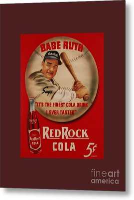 Vintage Babe Ruth Commercial Art Metal Print by Pd