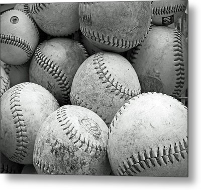 Metal Print featuring the photograph Vintage Baseballs by Brooke T Ryan