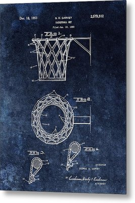 Vintage Basketball Net Patent Metal Print by Dan Sproul