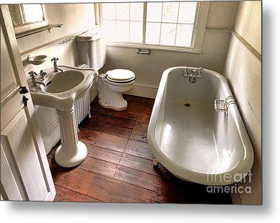 Vintage Bathroom Metal Print
