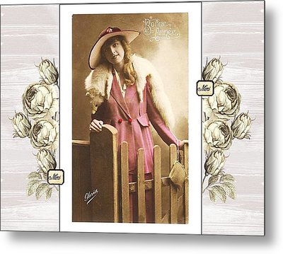 Vintage Beauty Metal Print by Mary Morawska