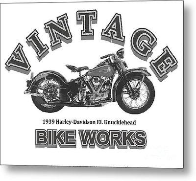 Vintage Bike Works 1939 Harley Davidson El Knucklehead Metal Print