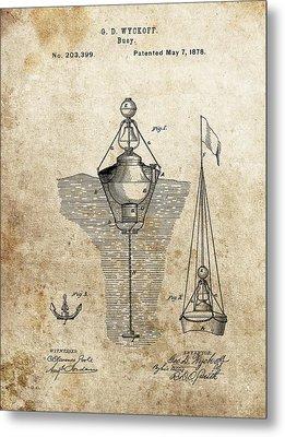 Vintage Buoy Patent Metal Print by Dan Sproul