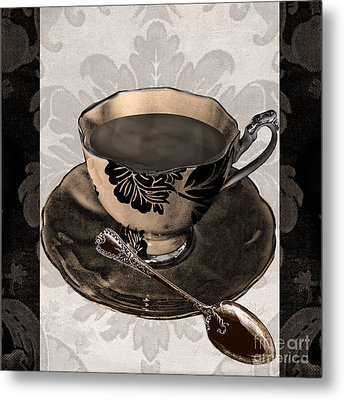 Vintage Cafe Iv Metal Print by Mindy Sommers