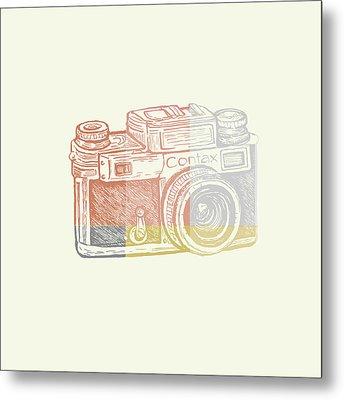 Vintage Camera 2 Metal Print by Brandi Fitzgerald