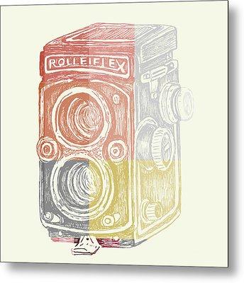 Vintage Camera Metal Print by Brandi Fitzgerald