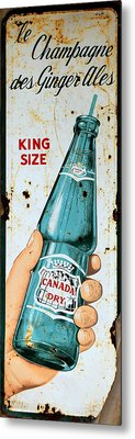 Vintage Canada Dry Sign Metal Print by Andrew Fare