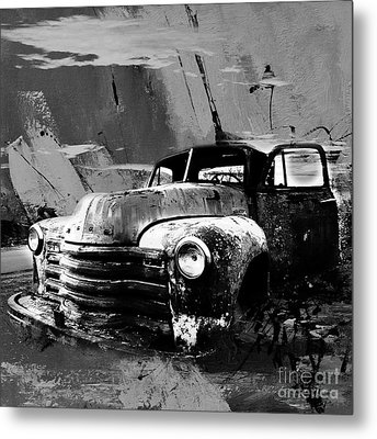Vintage Car 04 Metal Print by Gull G
