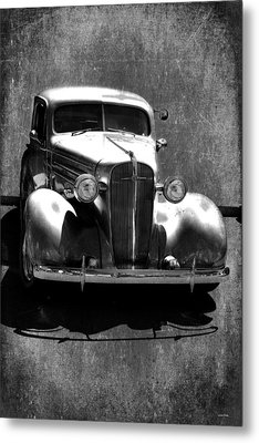 Vintage Car Art 0443 Bw Metal Print