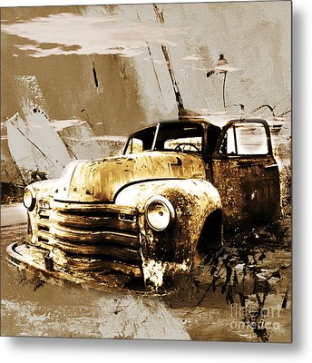 Vintage Car Metal Print by Gull G