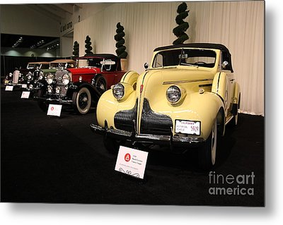 Vintage Car Row Metal Print by Wingsdomain Art and Photography