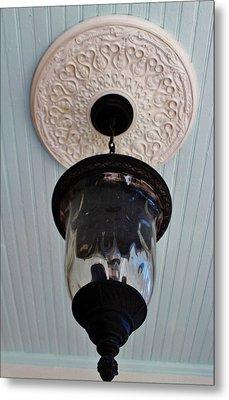 Vintage Ceiling Light Fixture Metal Print by Cynthia Guinn