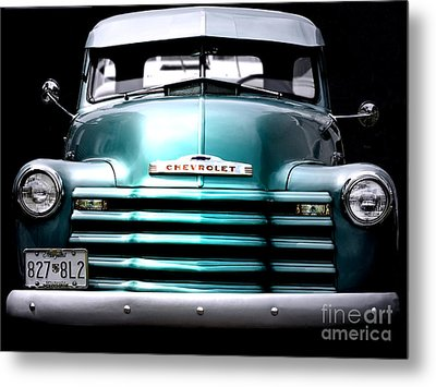 Vintage Chevy 3100 Pickup Truck Metal Print by Steven Digman