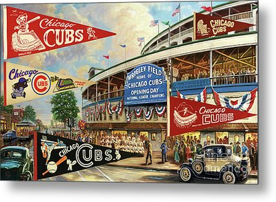 Vintage Chicago Cubs Metal Print