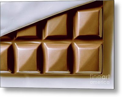 Vintage Chocolate Block Macro Metal Print by Jorgo Photography - Wall Art Gallery