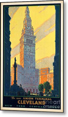 Vintage Cleveland Travel Poster Metal Print by George Pedro