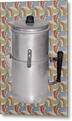 Vintage Coffee Pot Metal Print by Susan Leggett