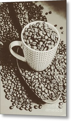 Metal Print featuring the photograph Vintage Coffee Art. Stimulant by Jorgo Photography - Wall Art Gallery