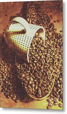 Vintage Coffee Shop Scene Metal Print by Jorgo Photography - Wall Art Gallery