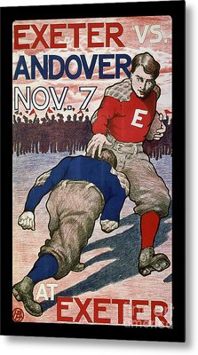Vintage College Football Exeter Andover Metal Print by Edward Fielding