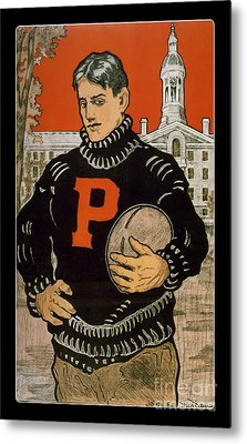 Vintage College Football Princeton Metal Print