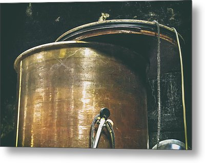 Vintage Copper Wine Making Equipment Metal Print