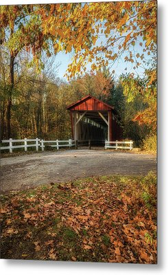 Metal Print featuring the photograph Vintage Covered Bridge by Dale Kincaid