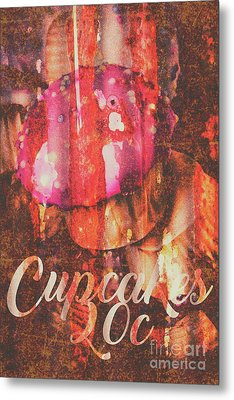 Vintage Cupcake Tin Sign Metal Print by Jorgo Photography - Wall Art Gallery