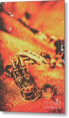 Vintage Dragon Charm Metal Print
